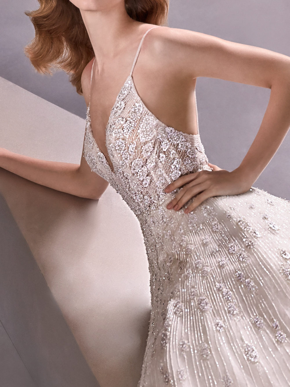 Pronovias Shining Star Wedding Gown Dress 2020 Atelier Collection Side Detail