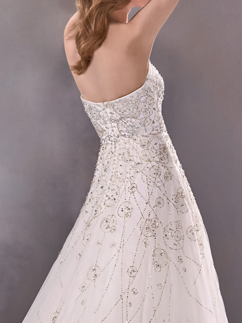 Pronovias Starshine Wedding Gown Dress 2020 Atelier Collection back side
