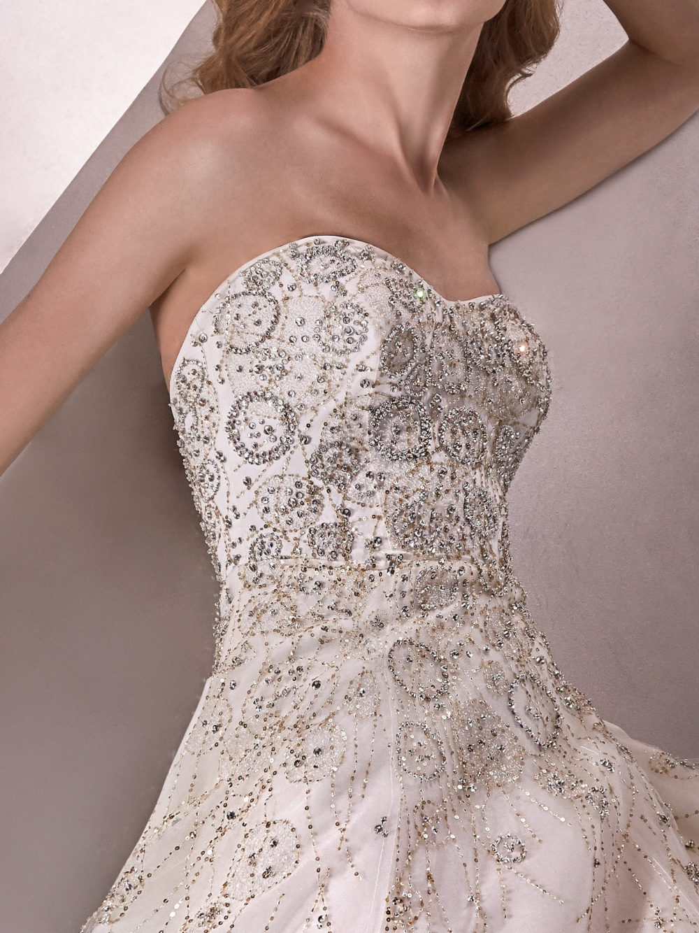 Pronovias Starshine Wedding Gown Dress 2020 Atelier Collection front side