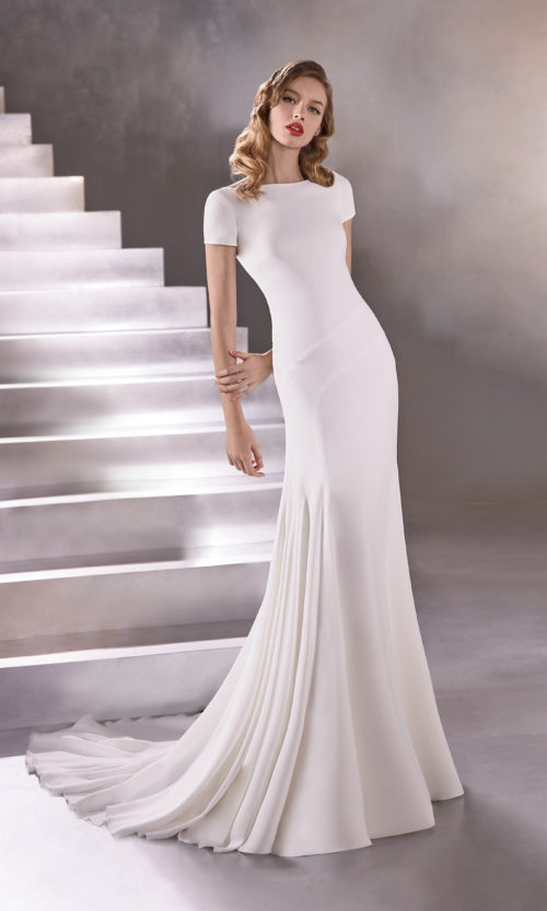Pronovias Champagne Supernova Wedding Gown Dress 2020 Atelier Collection