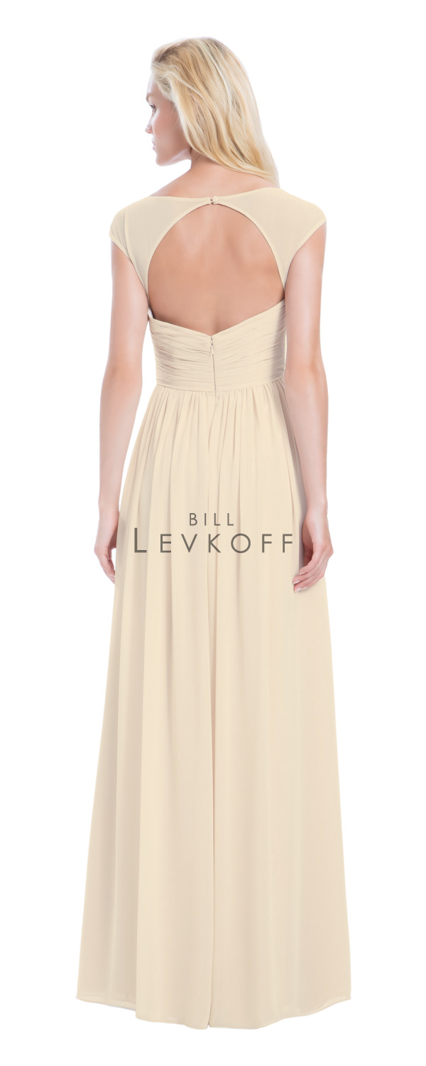 Novias Bridal Wedding Bridesmaid gown Dress Bill Levkoff style 1163 back