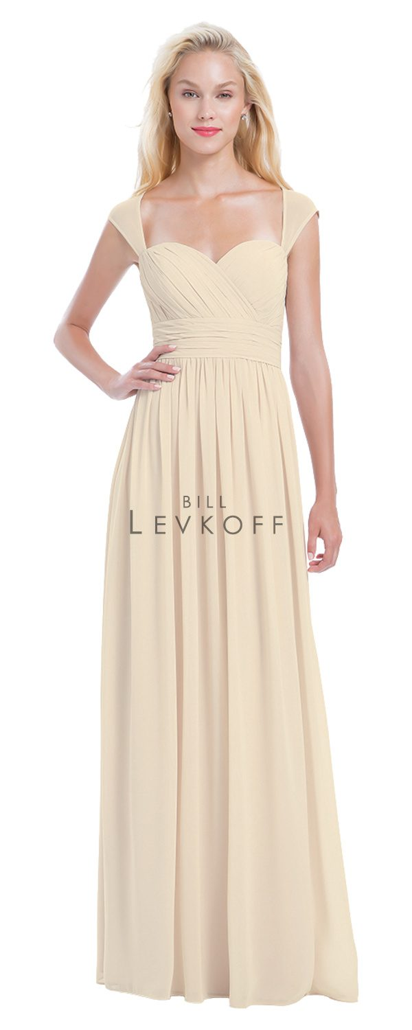 Novias Bridal Wedding Bridesmaid gown Dress Bill Levkoff style 1163