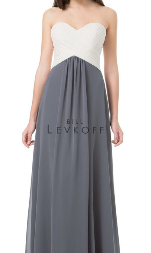 Novias Bridal Wedding Bridesmaid gown Dress Bill Levkoff style 1223